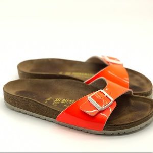 BIRKENSTOCK Neon Orange Sandals Size 39 EU 9 US